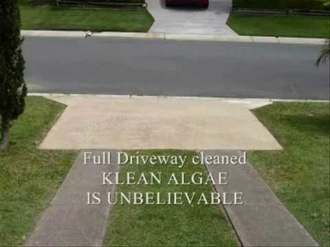 Remove mildew from concrete videolike for Bleaching concrete driveway