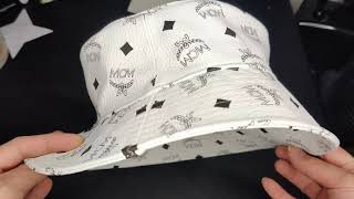 MCM White Visetos Bucket Hat Unboxing and Review