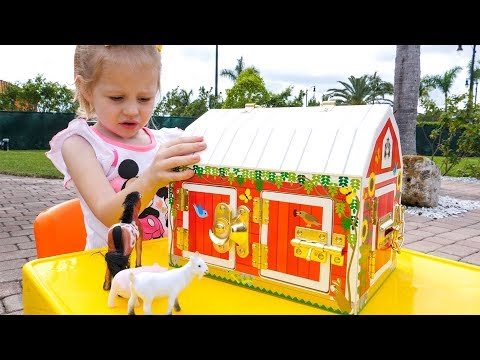 Детская песенка потешка Old Macdonald had a farm Nursery Rhyme song for kids by Like Nastya