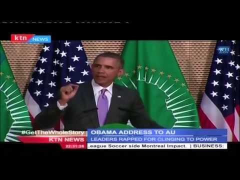 US President Barack Obama's hard hitting  Speech at AU headquarters in Addis Ababa