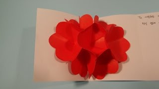 꽃 입체카드 색종이 접기 - Origami Confetti Three-dimensional flowers card