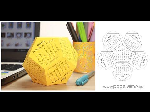 Calendario 2015 3D para imprimir (plantilla gratis)