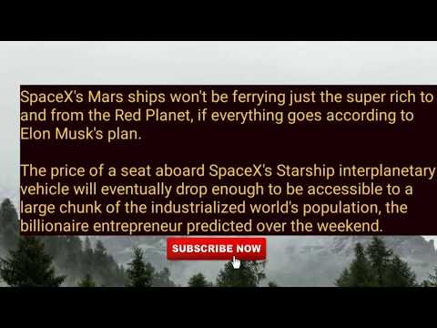 Tickets to Mars Will Cost Less Than...Space Science