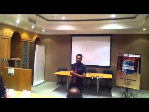 TOASTMASTER (ZAMIL) ICE BREAK DOMANIC PAUL DAMMAM K S A S INDIAN KERALA THRISSUR MALA