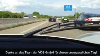 300 km/h !! - Maserati MC12 on German Autobahn - Ride,Accelerations,Sound