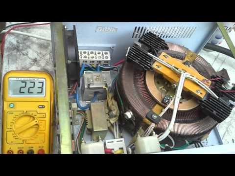 Работа электромеханического стабилизатора.