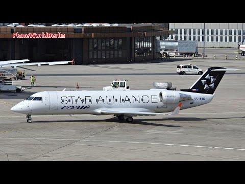 Adria Airways CRJ-200 *Star Alliance* takeoff from Berlin-Tegel