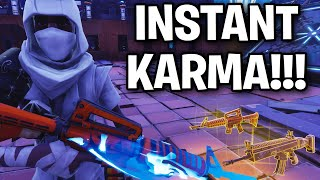 Kid gets insta karma when trying to scam me!!! 😂 (Scammer Get Scammed) Fortnite Save The World