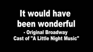 Len Cariou - A Little Night Music: It Would Have Been Wonderful (Len Cariou, Laurence Guittard)