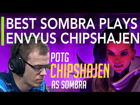 Overwatch | Best Plays of the Game - Best Sombra Plays by EnVyUs Chipshajen | OGN APEX S3 Highlights