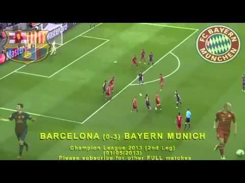 FULL 2nd Leg - BARCELONA vs BAYERN MUNICH 0-3 (01/05/2013) Champion League