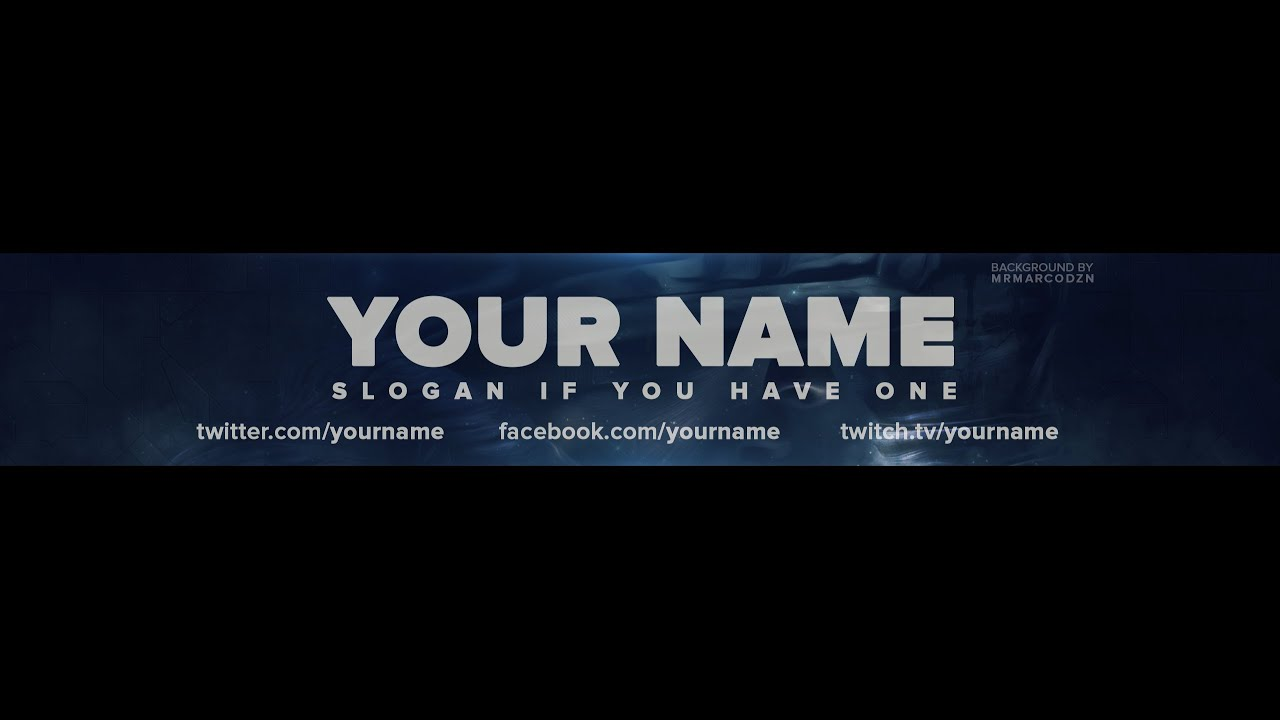 FREE Call of Duty: Ghosts One Channel Banner Template - YouTube