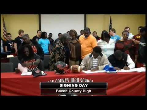 Bacon County High School Signing Day 2013 - Football