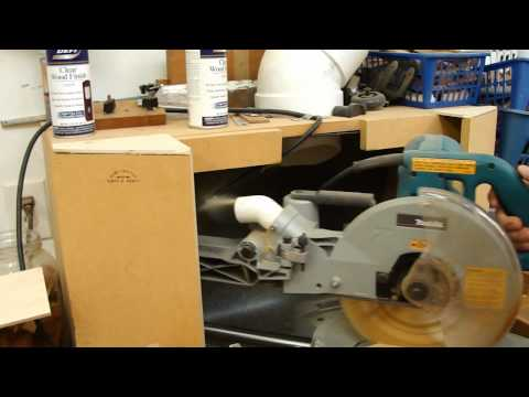 Chop Saw Dust Collection with a Clearvue Cyclone