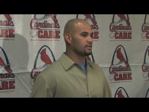 Albert Pujols attends Cardinals Winter Warm-up Video