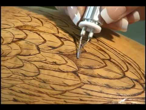 Woodburning on Gourds with Carrie Dearing