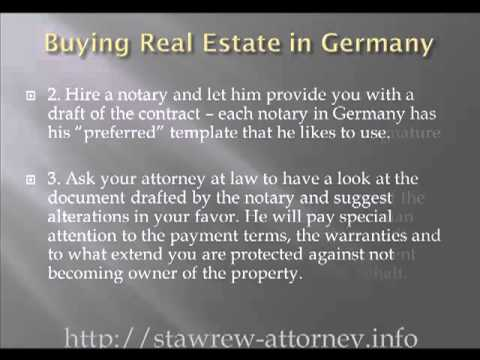 Buying Real Estate in Germany