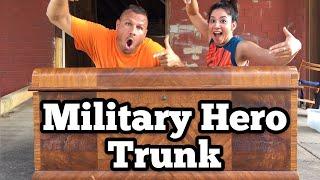 FOUND MILITARY HERO TRUNK I Bought Abandoned Storage Unit Locker Opening Mystery Boxes Storage Wars