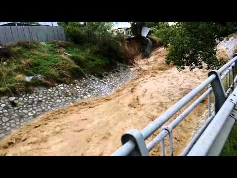 Flooded River Kifisos : Wheather Disaster In Athens Greece. No2