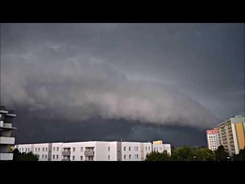 Bardzo Silna Burza W Radomiu (supercell, Downburst, Shelf Cloud) 14.08.2018
