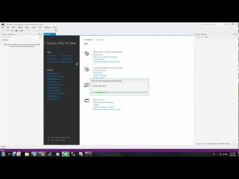 visual studio 2012 Create website project webform / Create table I