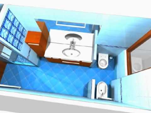 Progettazione render 3d ristrutturazione bagno cucina - Progettare bagno 3d ...