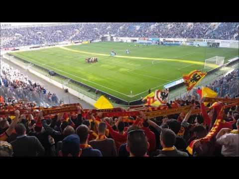 KV Mechelen-fans eren team na missen PO1 | KAA Gent-KVM (Fancam)