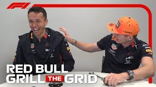Red Bull's Max Verstappen And Alex Albon! | Grill The Grid 2019