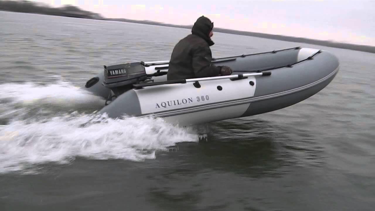 выход на глиссирование лодки