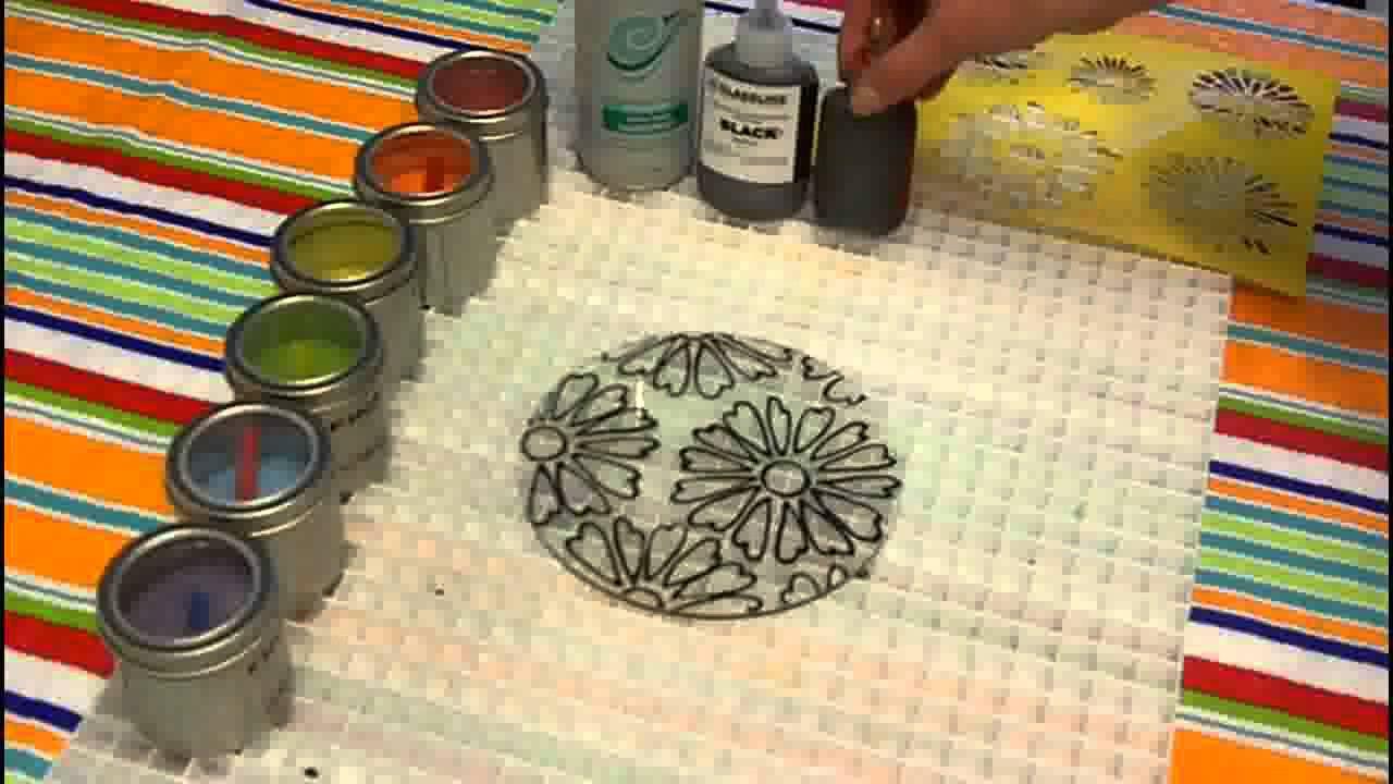 Fused Glass Tie Dye Flower Youtube