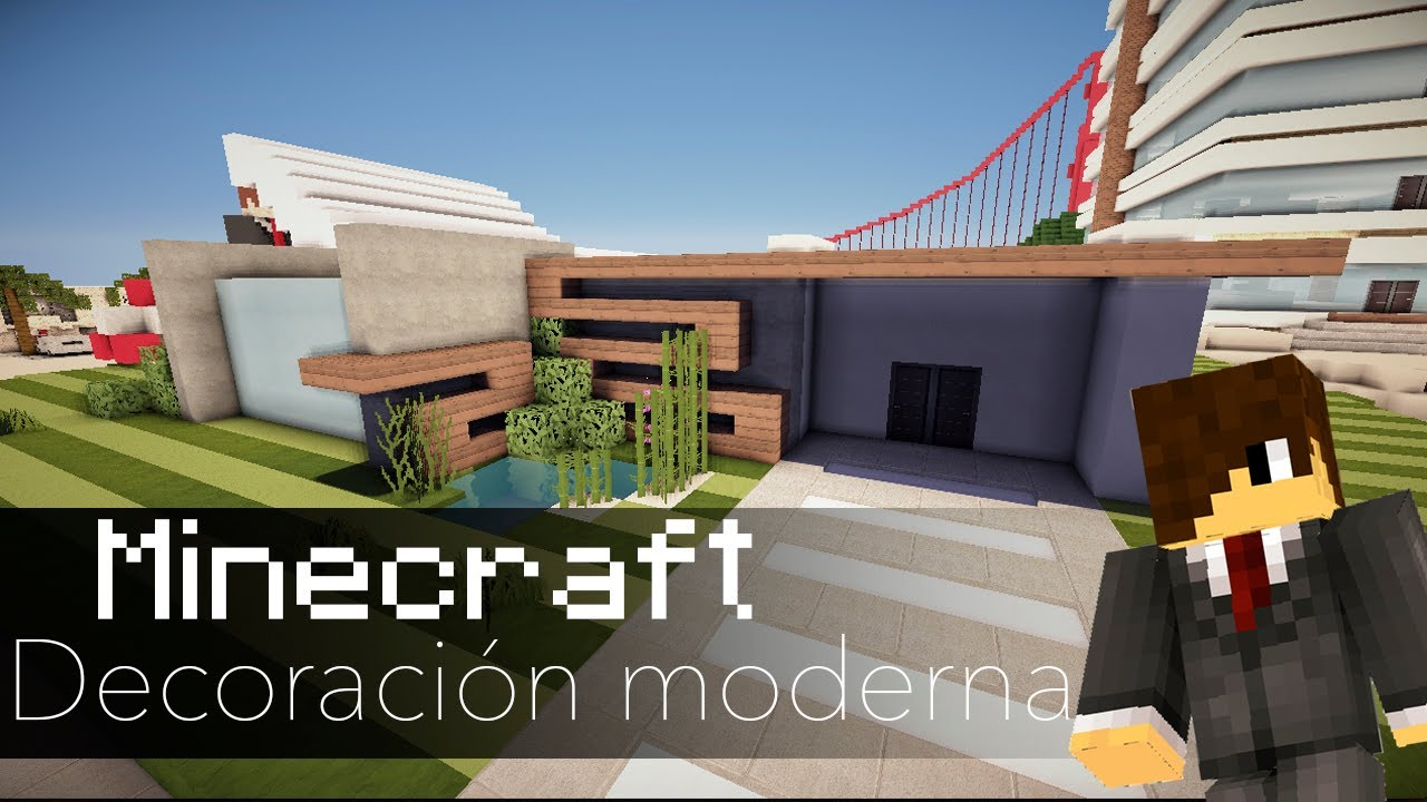 Minecraft decoraciones para una casa moderna youtube for Casas modernas minecraft faciles