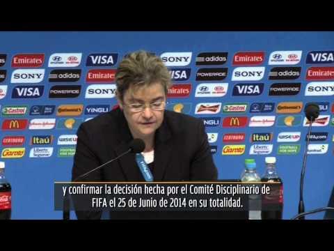 Rechazó FIFA apelación de Luis Suárez