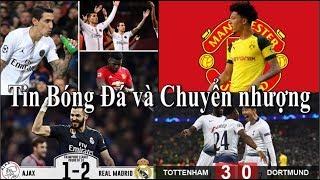 Tin bóng đá | Chuyển nhượng | 14/02/2019 | Tăng tỷ lệ MU mua Sancho, Zidane thay Sarri, Real thắng