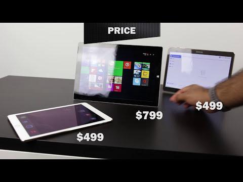 iPad Air 2 Vs Microsoft Surface Pro 3 Vs Samsung Tab S Three Way Comparison