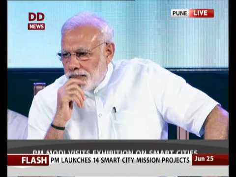 Andhra Pradesh CM Chandrababu Naidu addresses Smart City Project launch in Pune