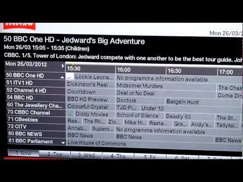 TechniSat HDFV Freeview HD Setup