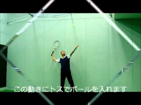 テニスのサーブ 肩を回す方法