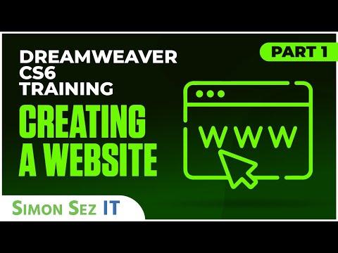 Dreamweaver CS6 Tutorial: Creating a Website Part 1