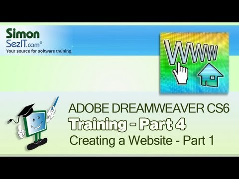 Dreamweaver CS6 Tutorial: Creating a Website  - Part 1