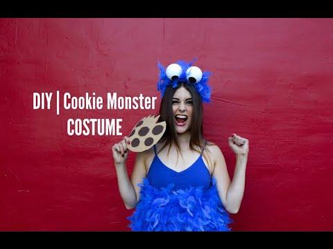 diy cookie monster costume youtube. Black Bedroom Furniture Sets. Home Design Ideas