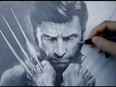 Amazing X-men Wolverine Speed Drawing   Hugh Jackman