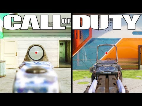 The Evolution of the Red Dot Sight (Reflex Sight in Every Call of Duty)