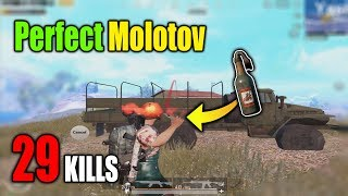This is why you should use molotovs | 29 KILLS INSANE GAME ACE SOLO vs SQUAD | PUBG Mobile