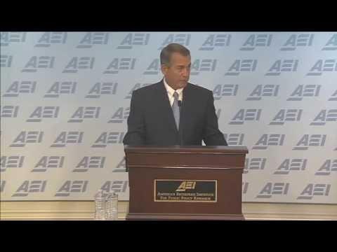 Speaker of the House John Boehner on resetting America's economic foundation