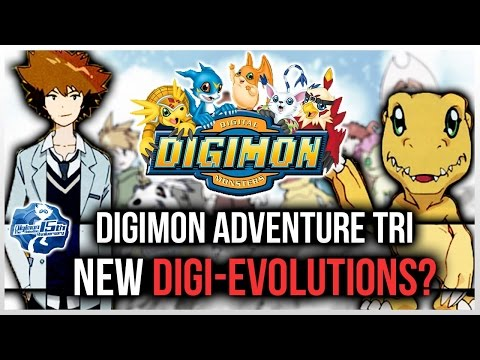 Digimon Adventure Tri 2015 Older Tai Agumon Digidestined + New Digivolutions? video