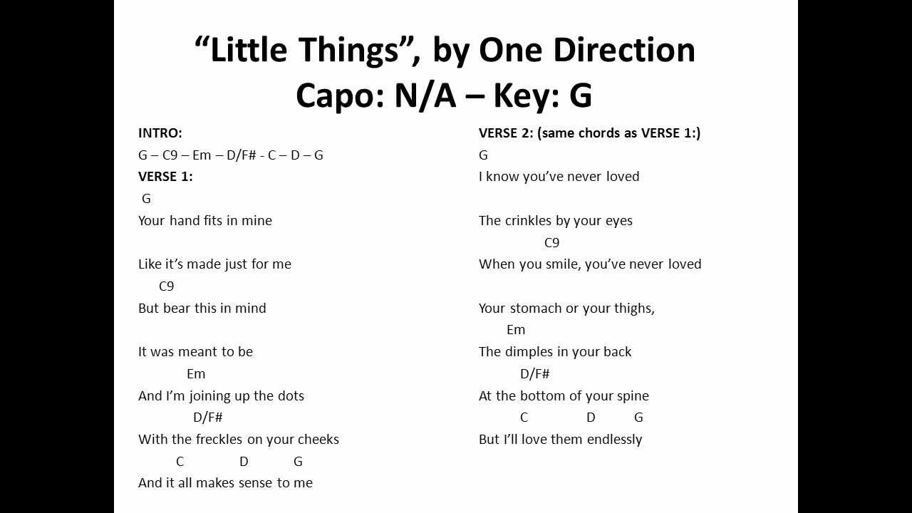 Little things one direction guitar chords on skrl little things by one direction hexwebz Images