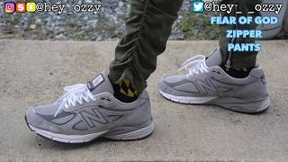 New Balance 990 v4 Gray Review  On Feet Review