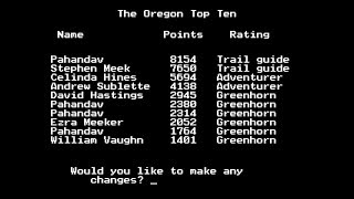 The Oregon Trail: High Score Run - 8154 Points