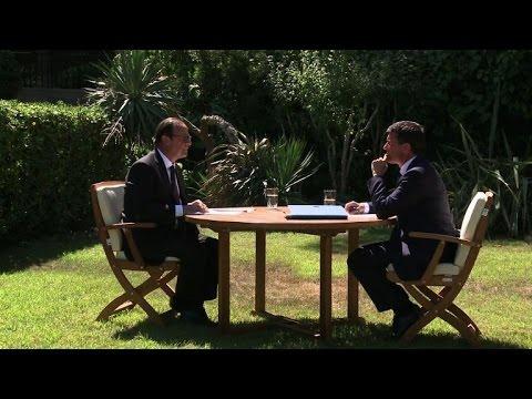 Réunion de travail entre François Hollande et Manuel Valls