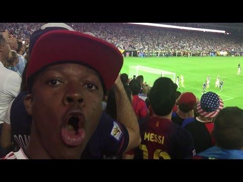 I SAW MESSI !!!!!!!!! USA vs ARGENTINA 0-4
